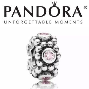 791122pcz Retired Pandora her majesty pink spacer